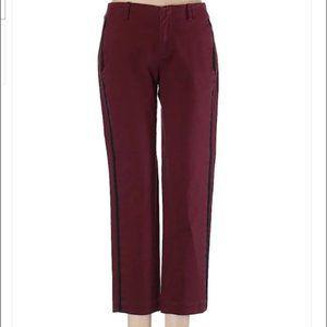 Kate Spade Saturday Red Pinstripe Cropped Pants